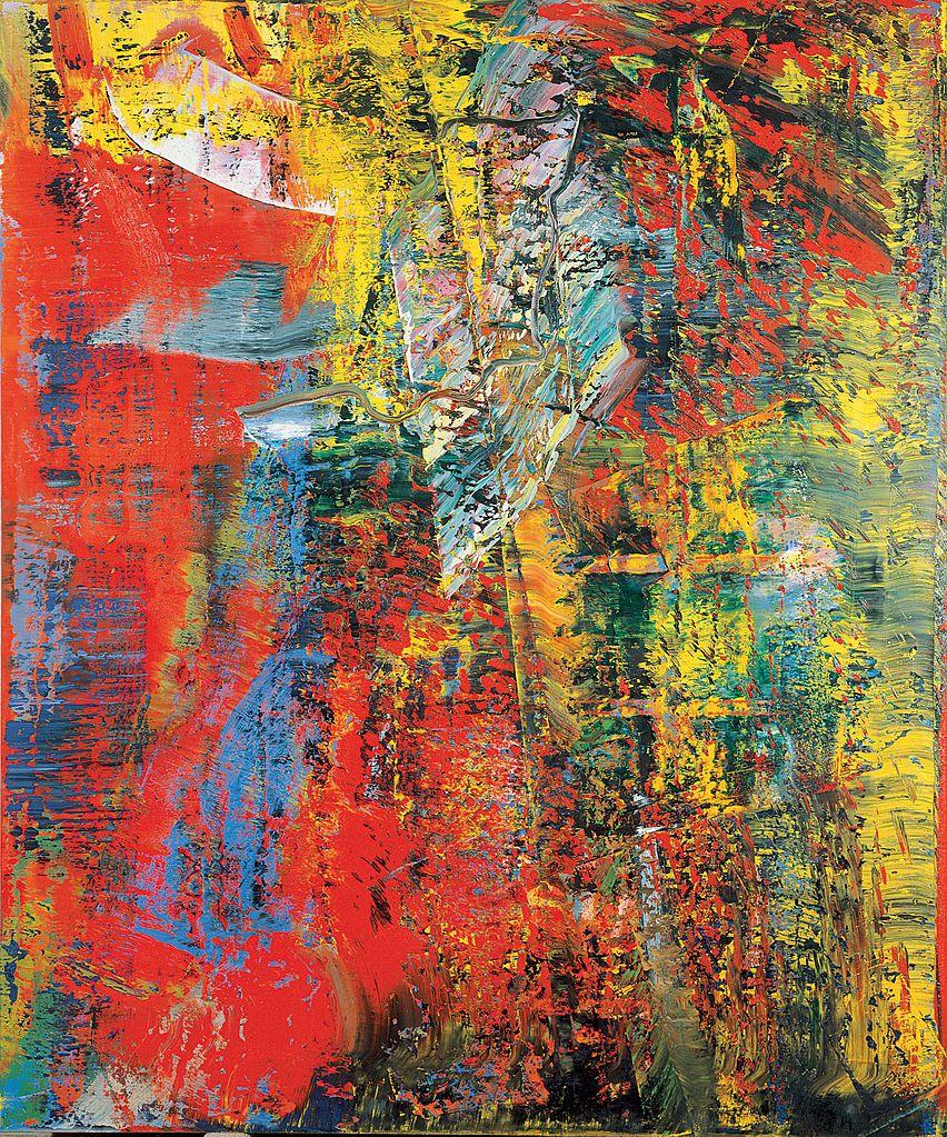 Gerhard Richter, A B Courbet (huile sur toile, 1986)