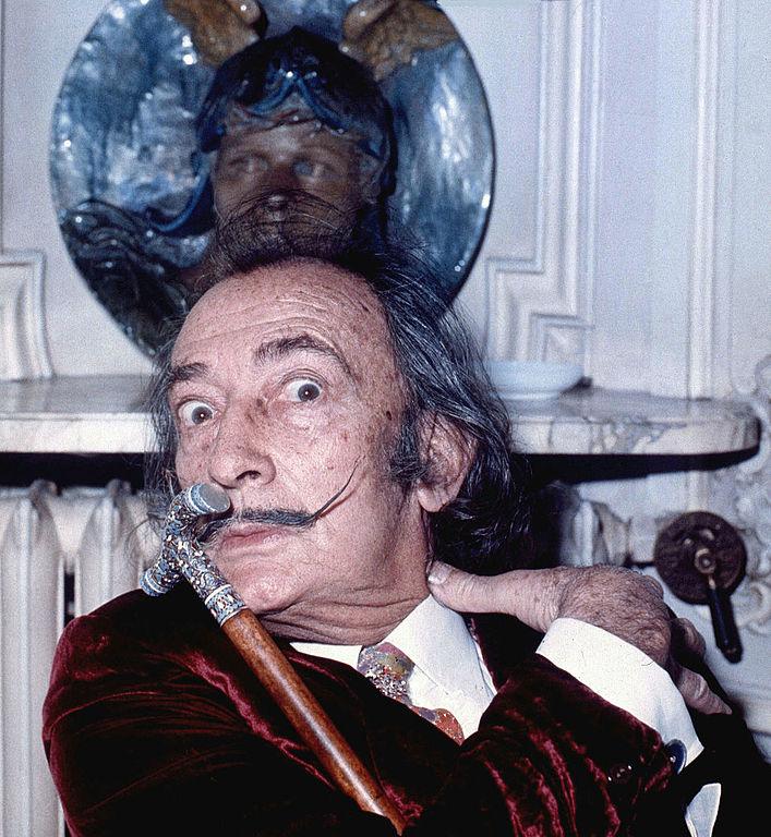 Portrait de Salvador Dali (Hôtel Meurice, Paris en 1972)