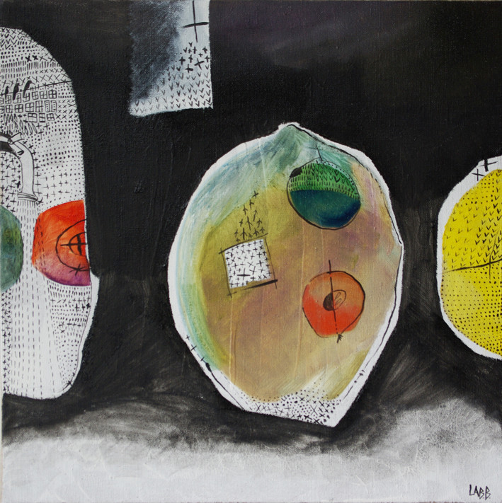 LABB, Earth Fruits (huile sur toile)