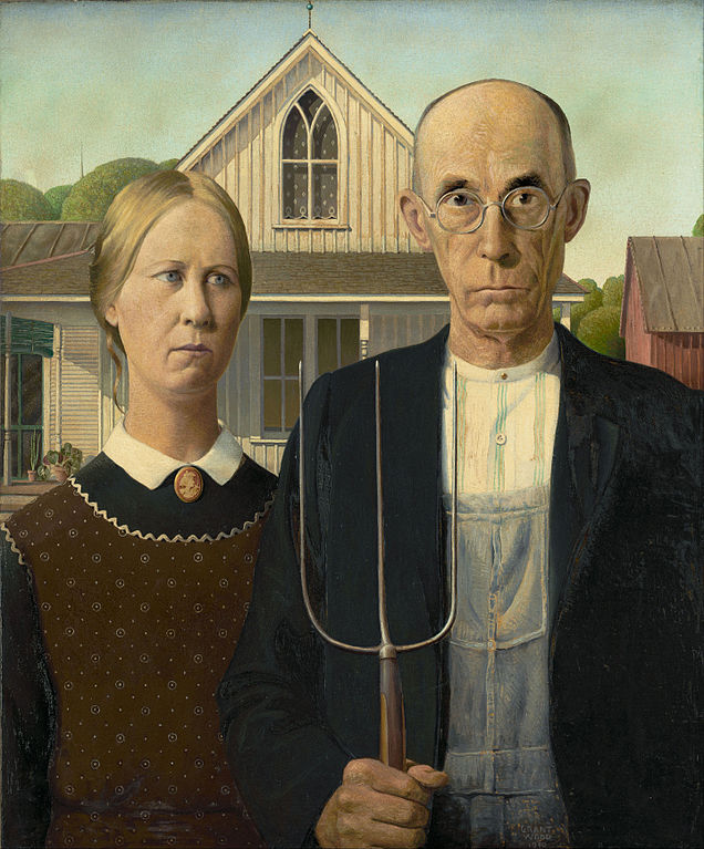 Grant Wood, American gothic (1930)