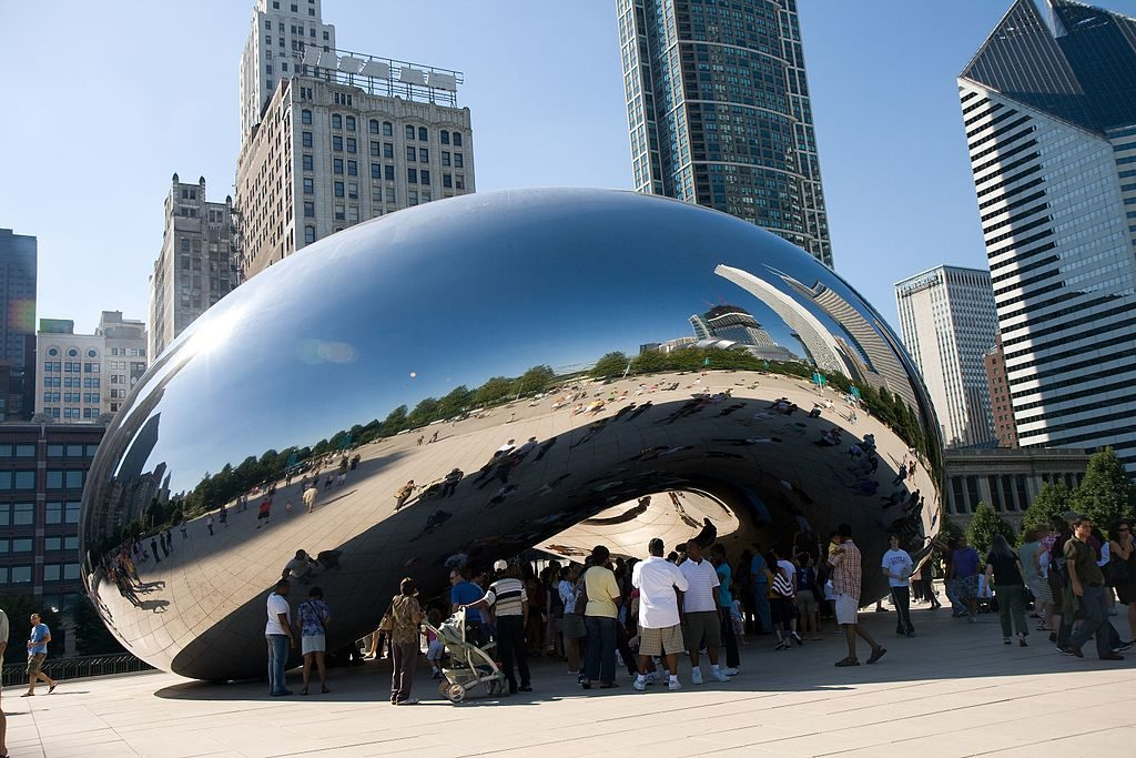 Anish Kapoor, Cloud Gate (sculpture située à Chicago, 2006)