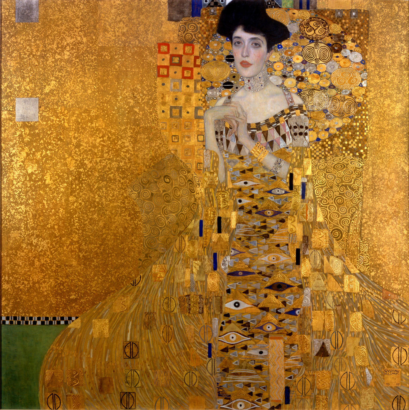 Gustav Klimt, Portrait d'Adèle Bloch-Bauer I (1907)