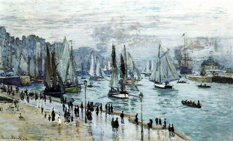 Claude Monet, Le Havre, bateaux de pêche sortant du port, 1874