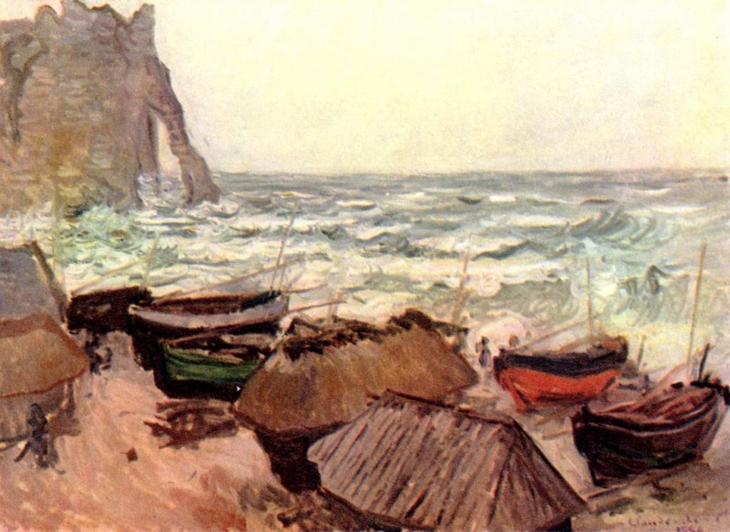 Monet, La Manneporte (Etretat), 1883 / Via Wikimedia Commons
