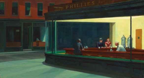 Peindre la nuit - Edward Hopper, Nighthawks (1942)