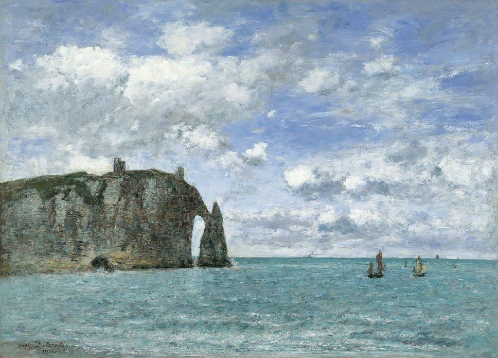 Eugène Boudin, La falaise d'Aval à Etretat, 1890