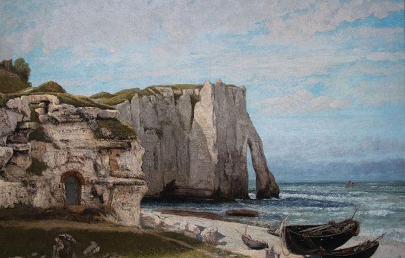 Gustave Courbet, La falaise d'Etretat après l'orage, 1870
