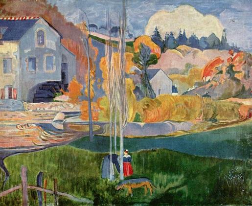 Paul Gauguin, Paysage de Bretagne, Le moulin David, 1894 © Musée d'Orsay