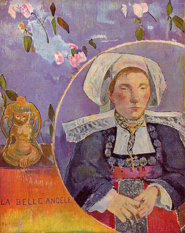 Paul Gauguin, La Belle Angèle (huile sur toile, 1889)