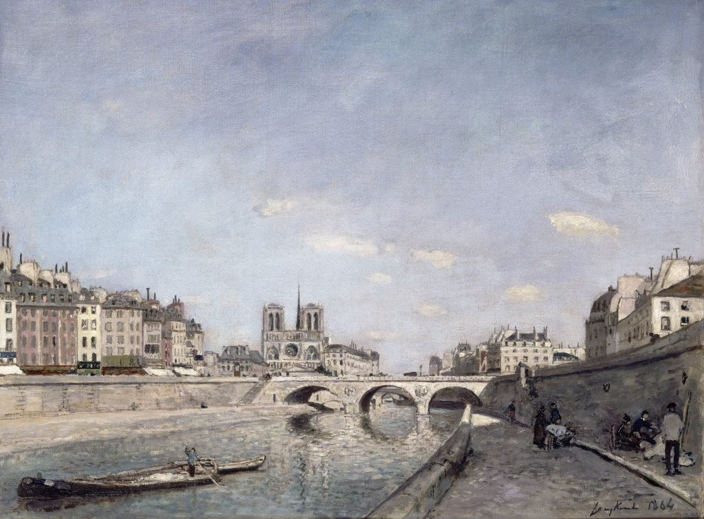 Johan Barthold Jongkind,  The Seine and Notre-Dame in Paris, 1864
