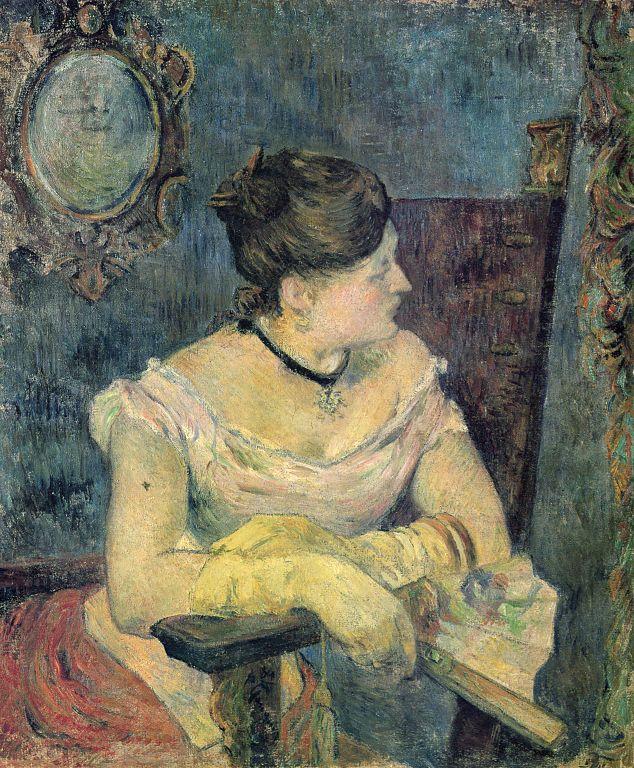 Paul Gauguin, Mette Gauguin en robe de soirée (huile sur toile, 1884)