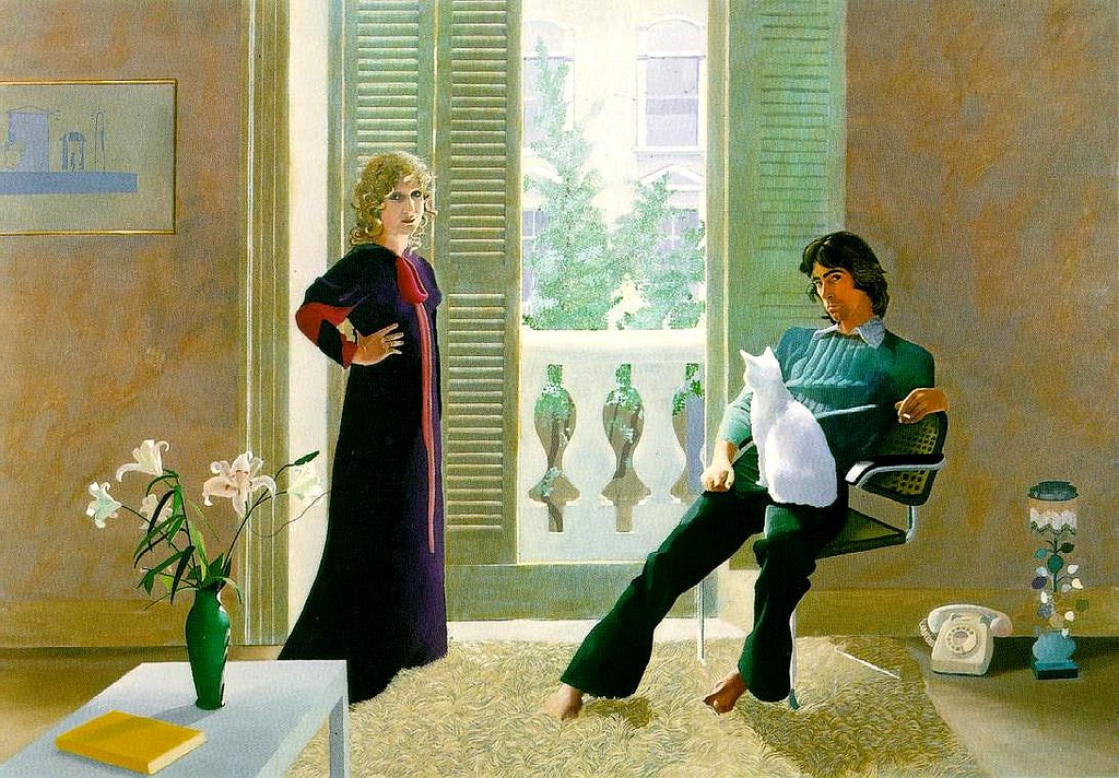 David Hockney, Mr and Mrs Clark and Percy (acrylique, 1971)