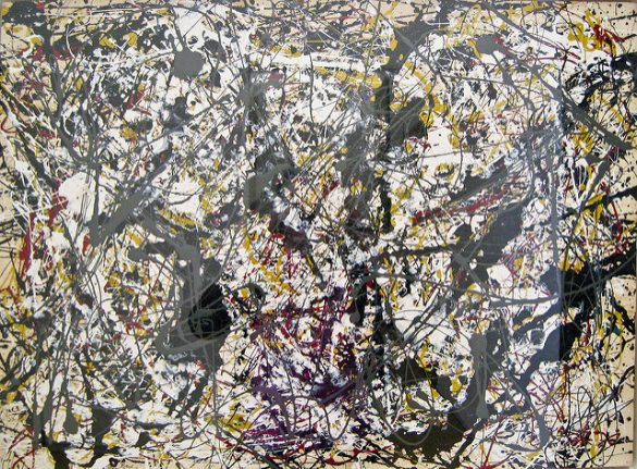 Jackson Pollock, Painting (Silver over Black, White, Yellow and Red), 1948