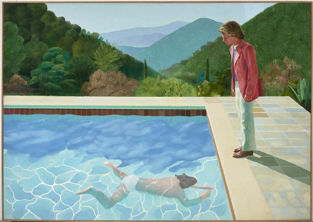 David Hockney, Portrait d'un artiste [Piscine avec deux personnages]