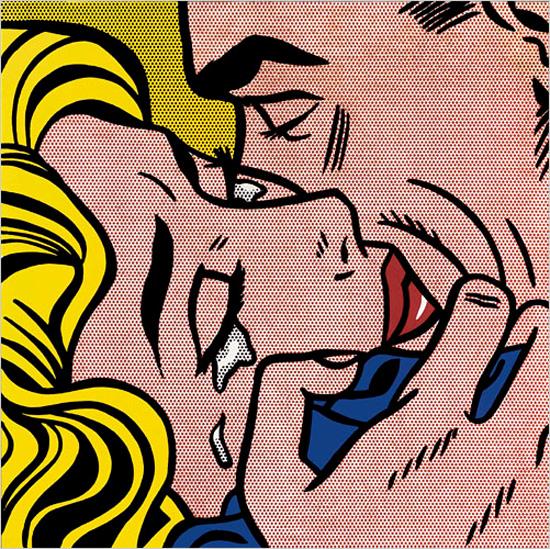 Roy Lichtenstein, Kiss V (1964) Les 10 baisers les plus célèbres de l'Histoire de l'Art