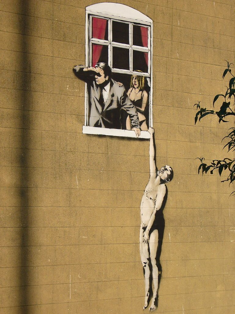 Banksy, Lovers (Angleterre)