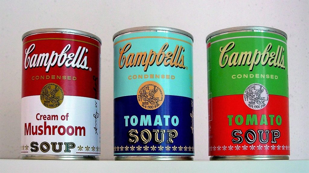 Campbell's Soup colorées