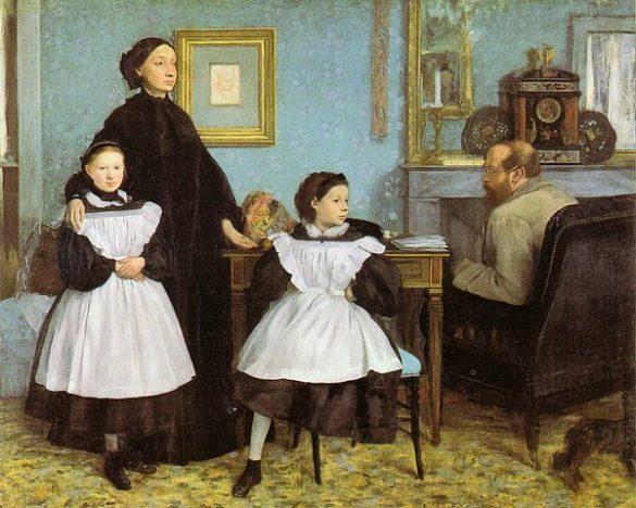 Edgar Degas, La famille Belleli (huile sur toile, entre 1858 et 1867, exposée au Musée d'Orsay) / Edgar Degas [Public domain], via Wikimedia Commons