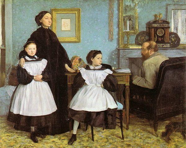 Edgar Degas, La famille Belleli