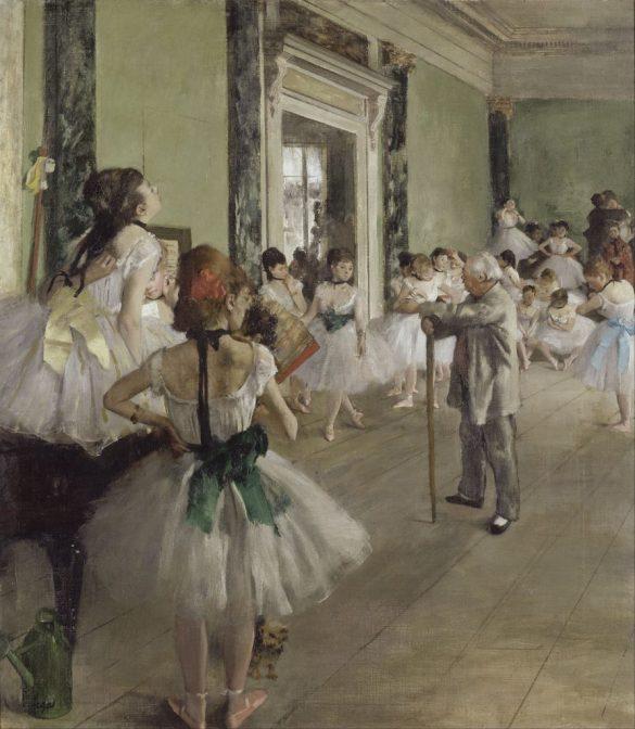 Edgar Degas, La classe de danse (huile sur toile, entre 1871 et 1874, exposée au Musée d'Orsay) / Edgar Degas [Public domain], via Wikimedia Commons