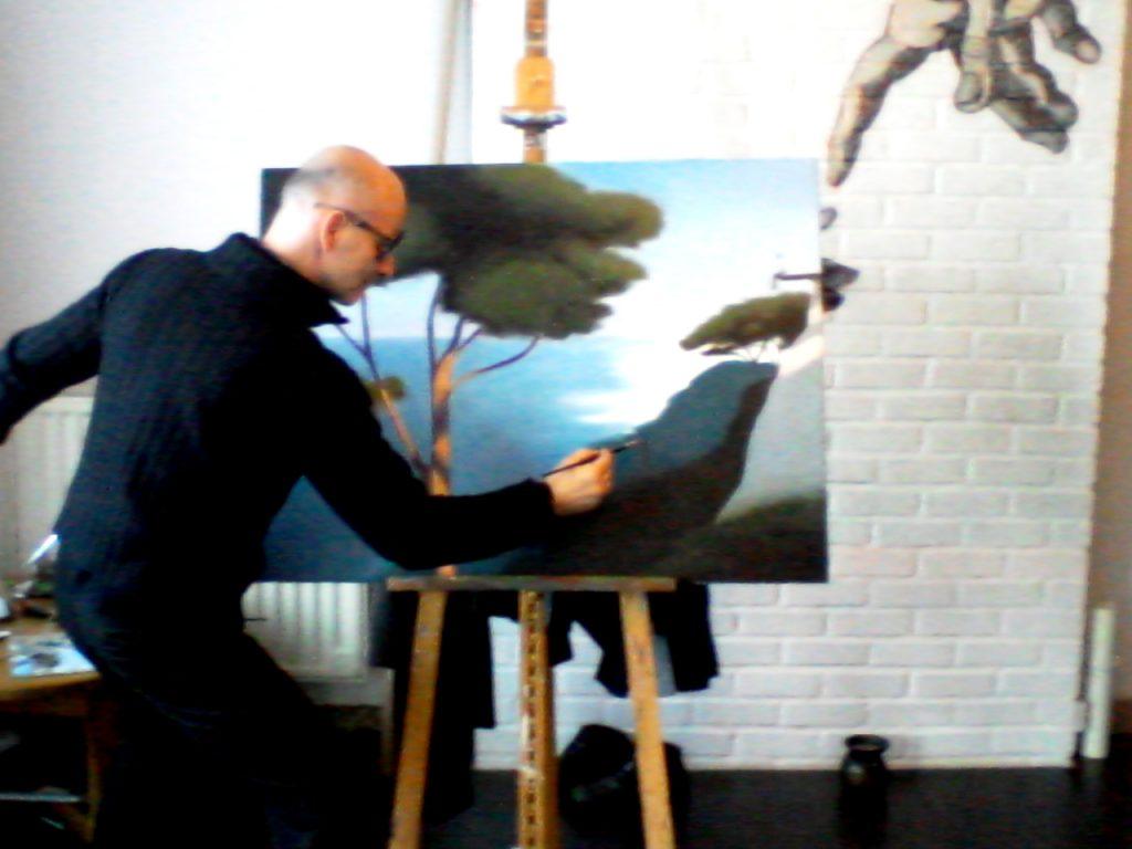 Hugo Pondz dans son atelier
