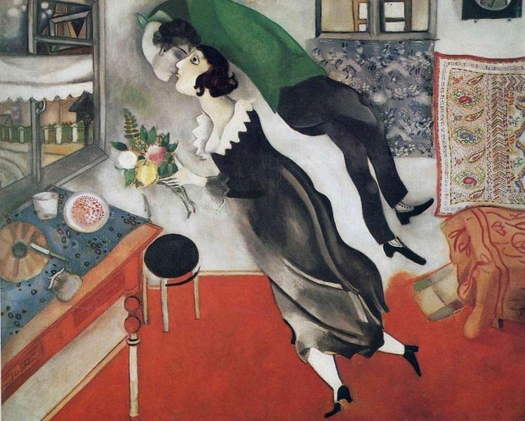 Marc Chagall, L'Anniversaire (1915)