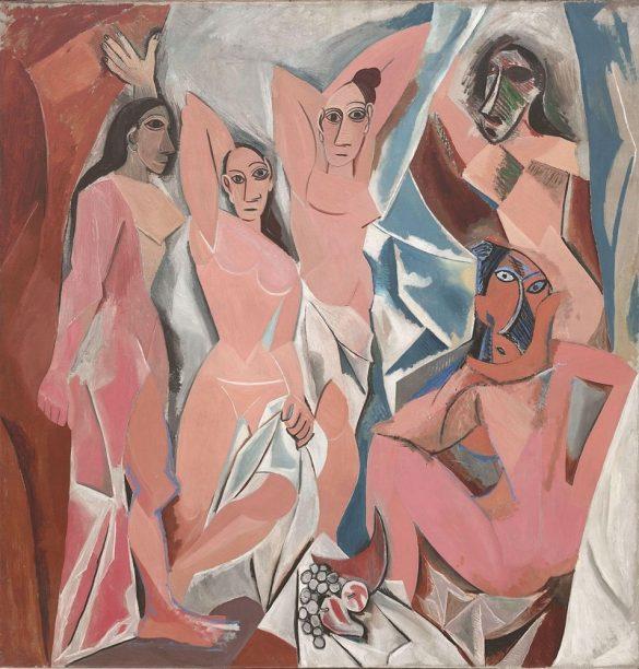 Picasso, Les Demoiselles d'Avignon, 1907 (exposé au MoMA de New York)