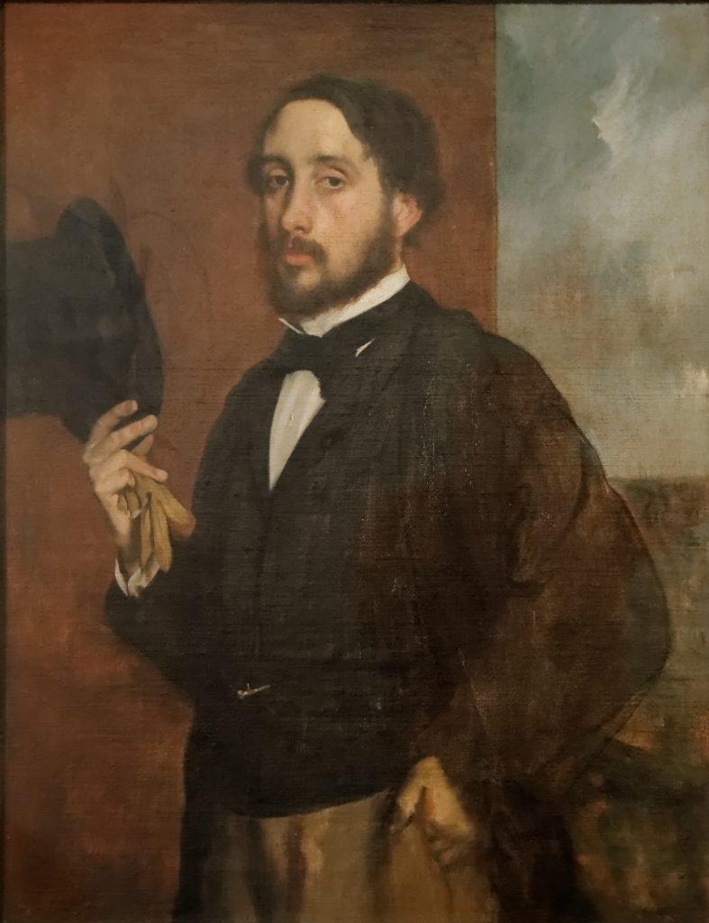 Edgar Degas, Autoportrait ou Degas saluant