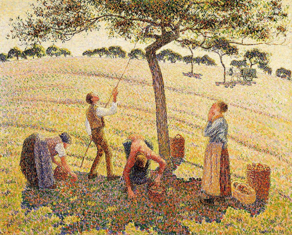 1271px-Camille_Pissarro_-_La_récolte_des_pommes_à_Éragny