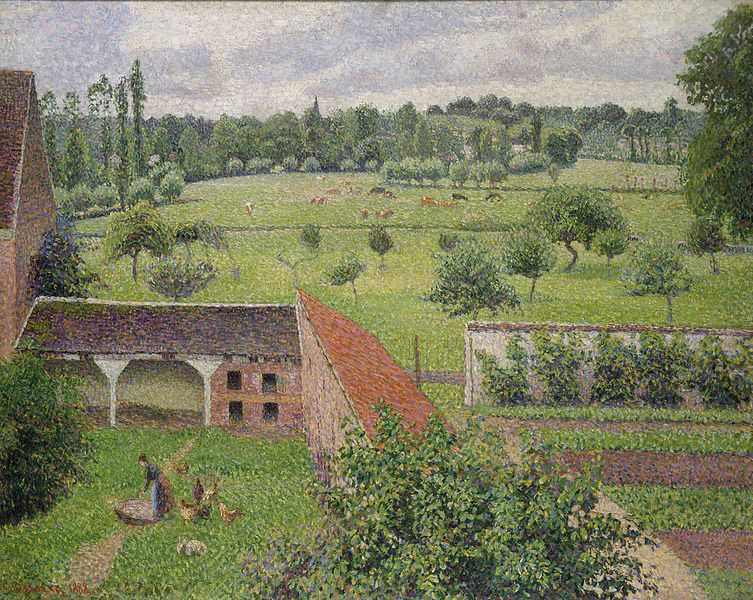 Camille_Pissarro_-_View_from_my_Window,_Éragny-sur-Epte_(1888)