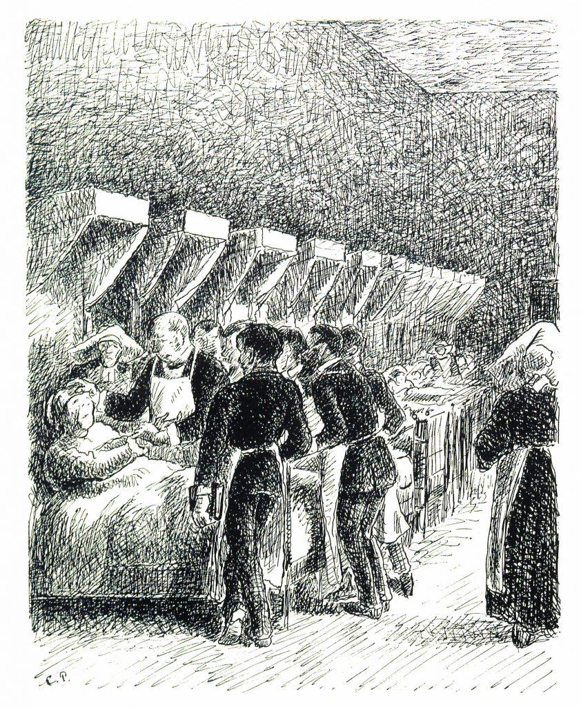 Camille_Pissarro_Turpitudes_sociales_À_l'Hôpital