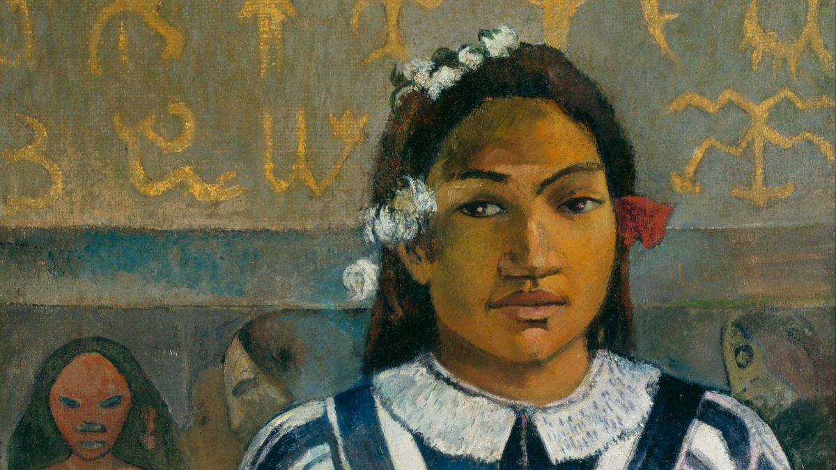 Canvassing the Masterpieces: Merahi metua no Tehamana by Paul Gauguin