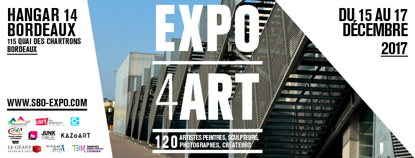 Exposition KAZoART à Bordeaux du 15 au 17 décembre 2017