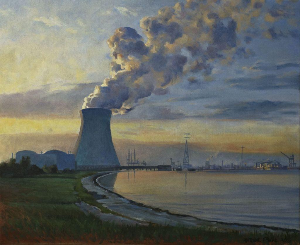 Antoine Favre, Centrale nucléaire au matin, 1000€