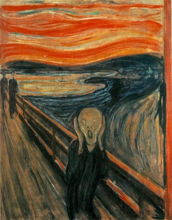 Edvard Munch, Le cri, tempera sur carton, 91 × 73,5 cm, Galerie Nationale d'Oslo