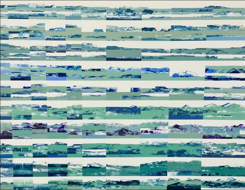 Nadine Hardy, La mer IV, 116 x 89 cm, 1300€