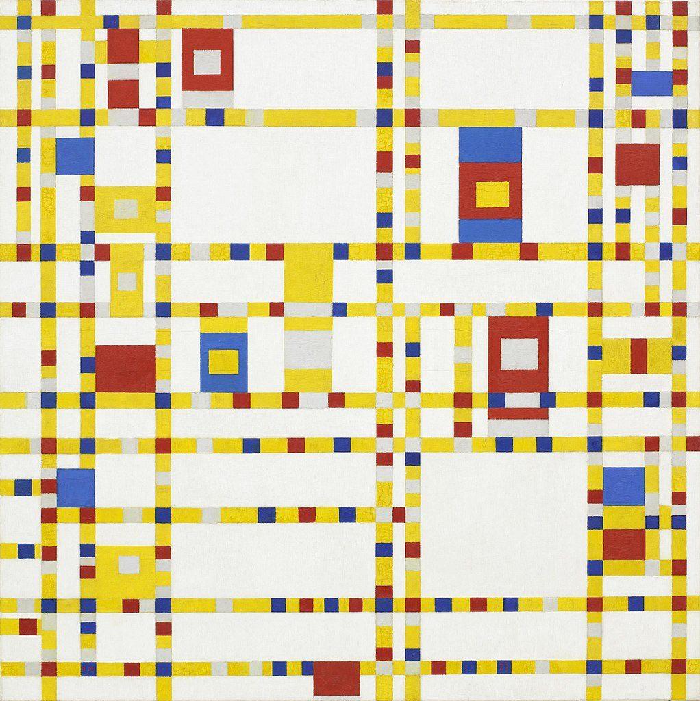 Piet Mondria, Broadway Boogie-Woogie, 1942, MoMA New York