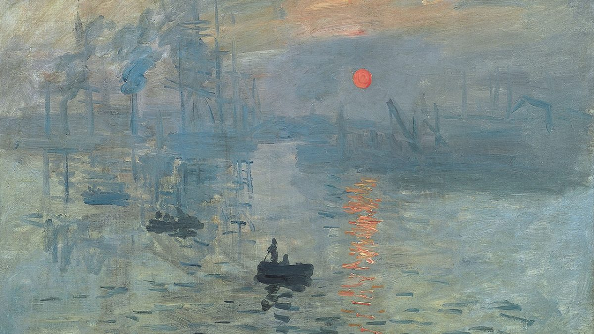 Canvassing the Masterpieces: Impression, Sunrise by Claude Monet