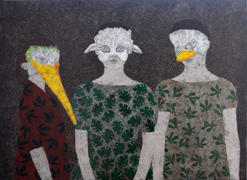 Cécile Duchêne-Malissin, Jeux d'enfants - masques, 1500€