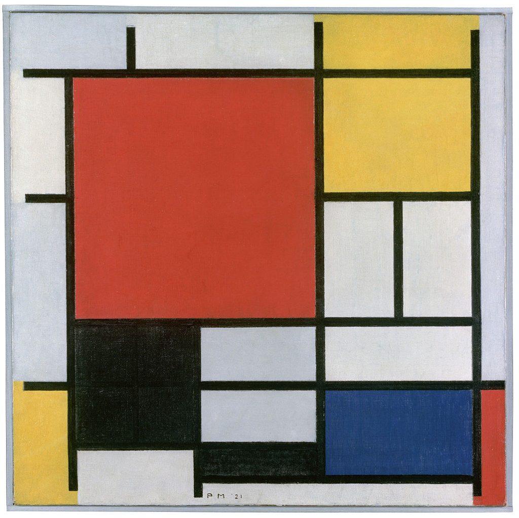 Piet Mondrian, Composition en rouge, jaune, bleu et noir, 1921, Gemeentemuseum Den Haag
