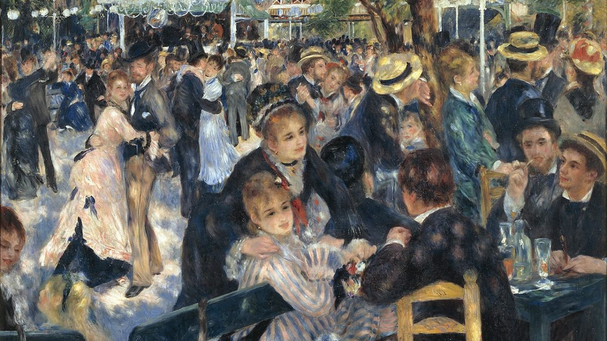 Canvassing the Masterpieces: Bal du Moulin de la Galette by Renoir