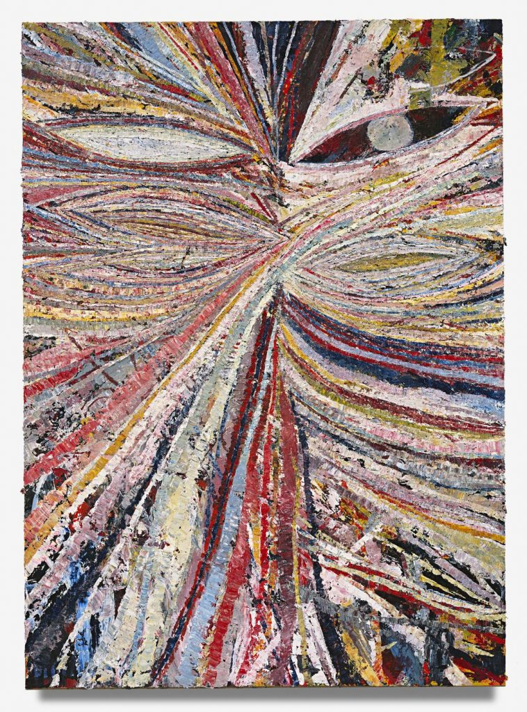 "Mark Grotjahn, ""Untitled (Face for Greece 843),"" 2009. Courtesy Mark Grotjahn"