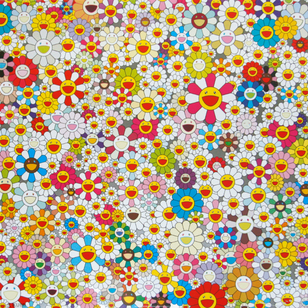 takashi Murakami, Field of smiling flowers, 2010, lithographie, © paddle8.com