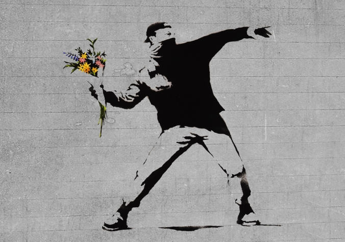 Bansky-Flower-Brick-Thrower.