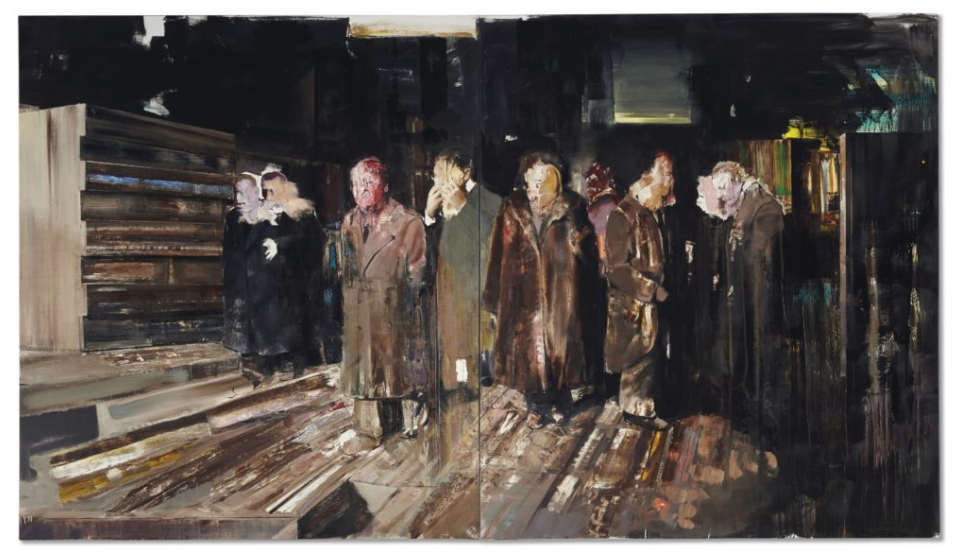 "Adrian Ghenie,  ""Nickelodeon,"" 2008, Credit Adrian Ghenie, via Christie's Images Ltd. 2016"