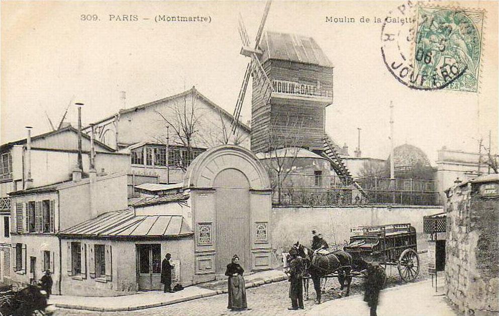Carte postale ancienne du moulin de la Galette