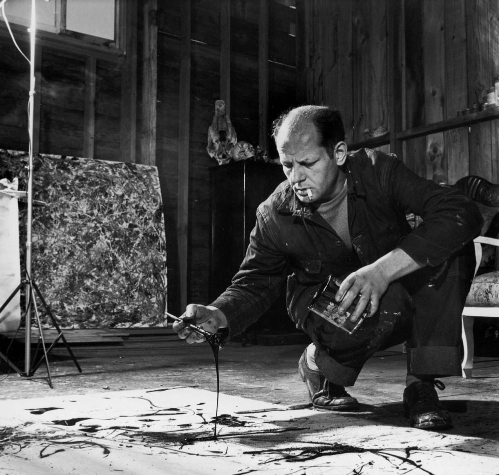 Jackson Pollock photographié par Hans Namuth en 1950