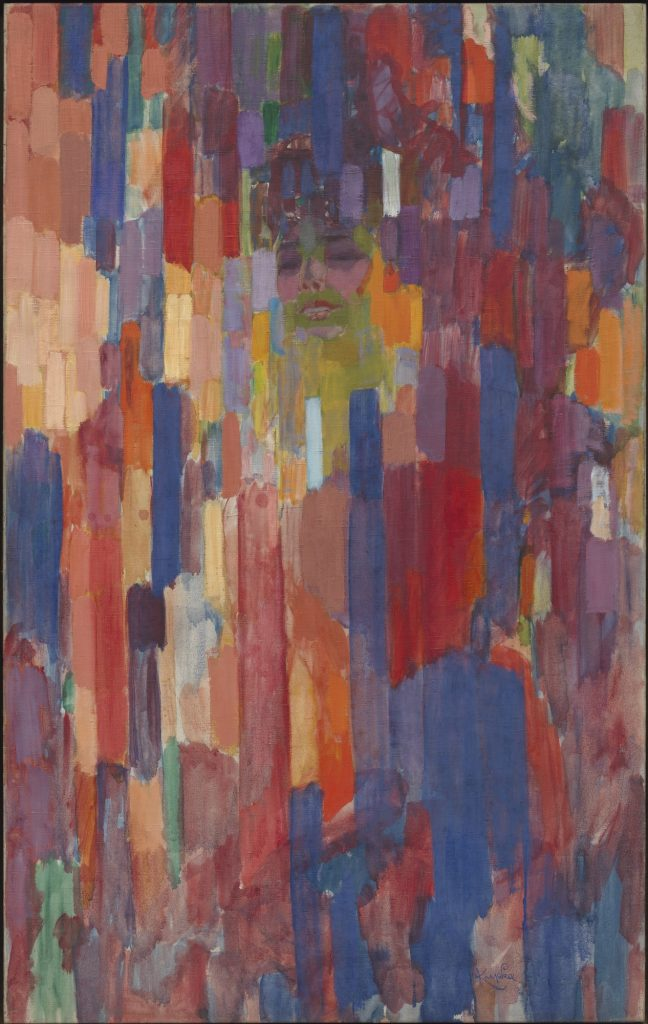 "František Kupka, ""Madame Kupka dans les verticales"", 1910-1911, Etats-Unis, New York, The Museum of Modern Art Hillman Periodicals Fund, 1956 © Adagp, Paris 2018 © Digital image, The Museum of Modern Art, MoMA, New York / Scala, Florence"