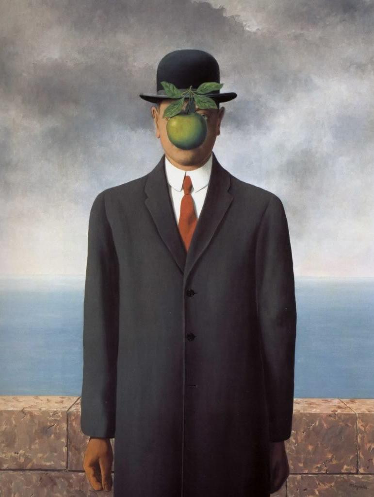 René Magritte, Le fils de l'homme, 1964, (116 x 89 cm), collection particulière