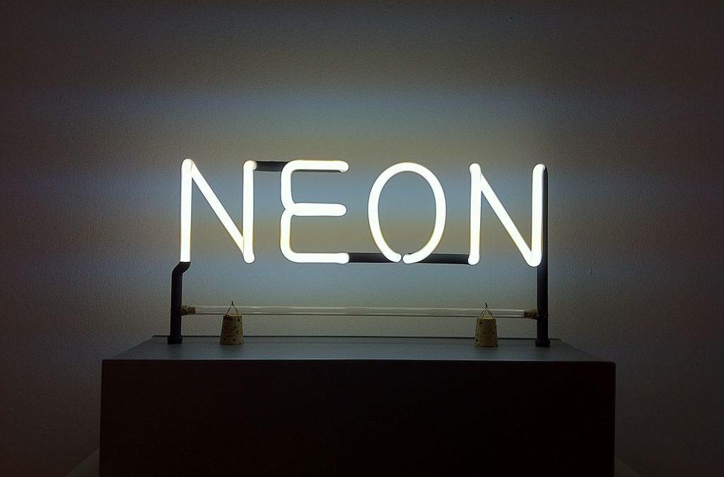 Le néon dans l'art